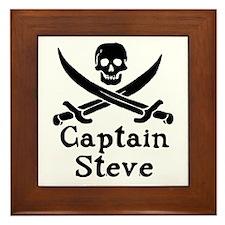 Captain Steve Framed Tile