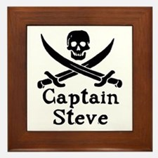 Captain Steve Framed Tile