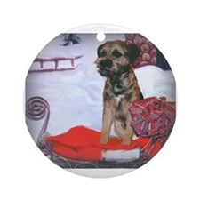 Holiday Border Terrier Ornament