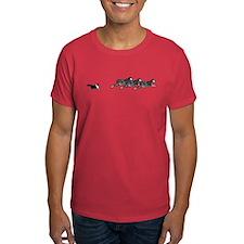 Tri-Color Sheltie on Sheep T-Shirt