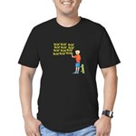 New Orleans Who Dat? Men's Fitted T-Shirt (dark)