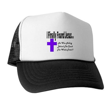 Found Jesus Couch Plain Trucker Hat