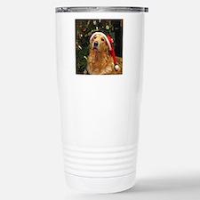Golden Santa Stainless Steel Travel Mug