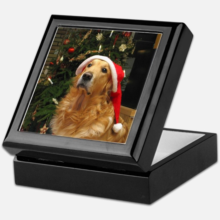 Golden Santa Keepsake Box