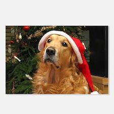 Golden Santa Postcards (Package of 8)