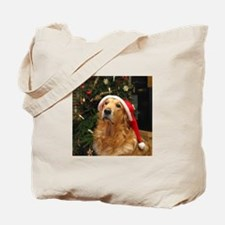 Golden Santa Tote Bag