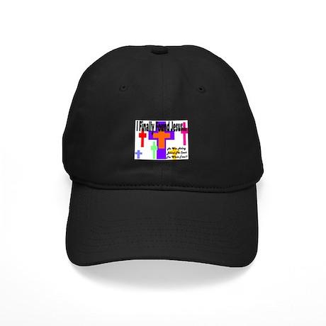 Found Jesus colorful Black Cap