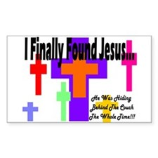 Found Jesus colorful Rectangle Decal