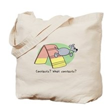 Cartoon Agility Contacts Tote Bag