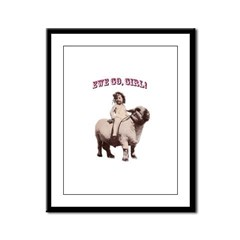 Ride on, Cowgirl Framed Panel Print