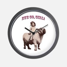 Ride on, Cowgirl Wall Clock