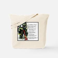 Old Version Firefighter Prayer Tote Bag