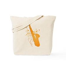 Glo Saxophone Tote Bag
