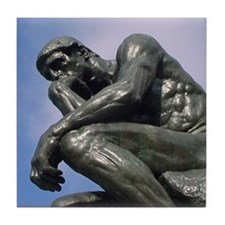 Funny The thinker Tile Coaster
