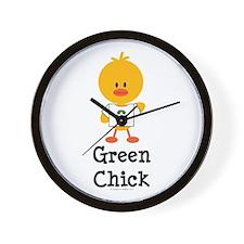Green Chick Wall Clock