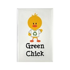 Green Chick Rectangle Magnet (100 pack)