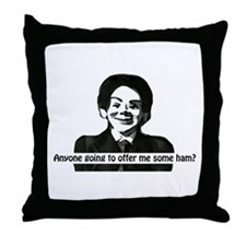 Hugo- the Devil Doll Throw Pillow
