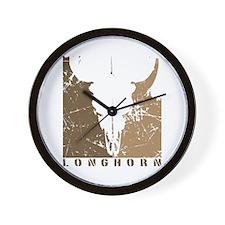 Longhorn Graphic Wall Clock