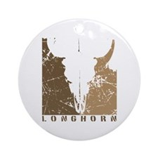 Longhorn Graphic Ornament (Round)