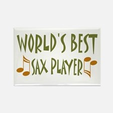 World's Best Sax Player Rectangle Magnet