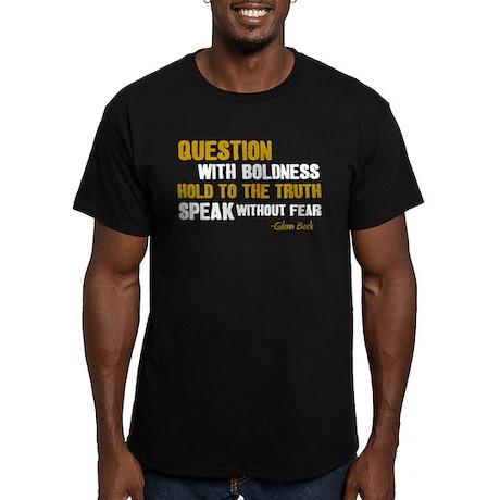 Conservative Men's Fitted T-Shirt (dark)