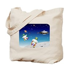 Aliens battle Tote Bag