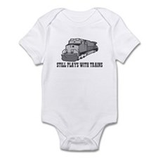 Still plays with trains Infant Bodysuit