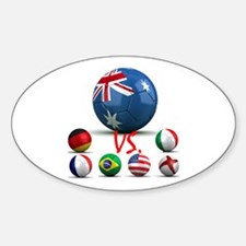Australia Vs The World Oval Decal