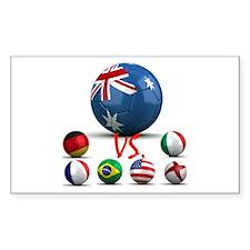 Australia Vs The World Rectangle Decal