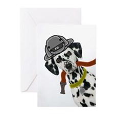 Dalmatian Firefighter Greeting Cards (Pk of 20)