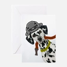 Dalmatian Firefighter Greeting Card
