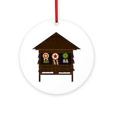 Bahay Kubo Ornament (Round)