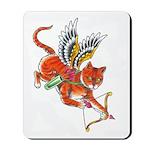 Cupid Kitty Mousepad