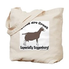 Goat are Great Tote Bag - Toggenburg
