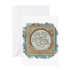 Bright, Happy & Hairy Star Greeting Card