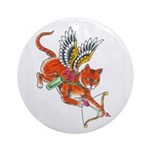 Cupid Kitty Ornament (Round)