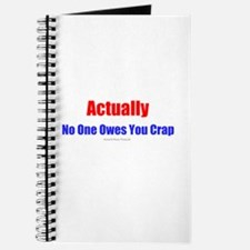 No One Owes You Crap - Journal