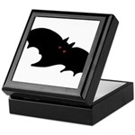 Gothic Black Bat Keepsake Box