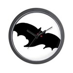 Gothic Black Bat Wall Clock