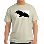 Gothic Black Bat Ash Grey T-Shirt