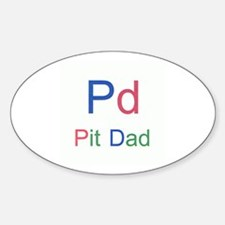 Pit Dad Oval Decal