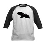 Gothic Black Bat Kids Baseball Jersey