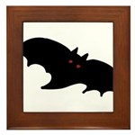 Gothic Black Bat Framed Tile