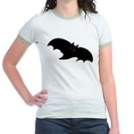 Gothic Black Bat Jr. Ringer T-Shirt