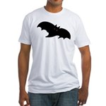 Gothic Black Bat Fitted T-Shirt