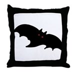 Gothic Black Bat Throw Pillow