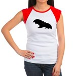 Gothic Black Bat Women's Cap Sleeve T-Shirt