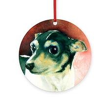 Classic Rat Terrier Ornament (Round)