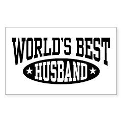 World's Best Husband Rectangle Decal