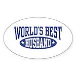 World's Best Husband Oval Sticker